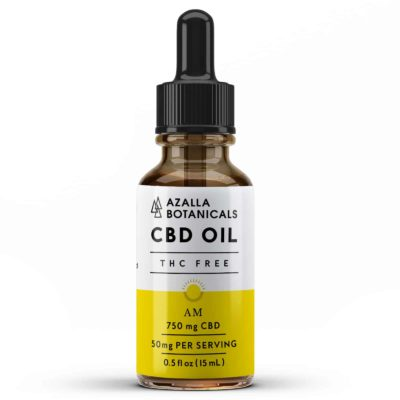 Azalla AM THC Free CBD Oil